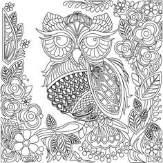 Stress Relief Coloring Book App & Mandala Coloring App for Adults Coloring Book App, Owl Coloring Pages, Pattern Coloring Pages, Free Adult Coloring Pages, Mandala Coloring, Printable Coloring Pages, Coloring Sheets, Owl Patterns, Color Patterns