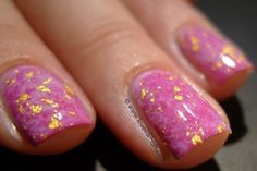Love. Varnish, chocolate and more...: Saran Wrap Marble featuring OPI Lucky Lucky Lavender & Bondi Fuchsia-istic