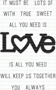 Wonderful Words: Love Mini Stamp Set PTI