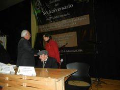 SMGE TIJUANA.- Ceremonia  Solemne de Celebración del 50 Aniversario de su Fundación. El Lic. Julio Zamora y la Secretaria de Educación del Municipio. Lic. Edna Pérez.