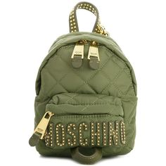 Moschino Backpack ($435) ❤ liked on Polyvore featuring bags, backpacks, green, day pack backpack, rucksack bags, green bag, moschino backpack and daypack bag
