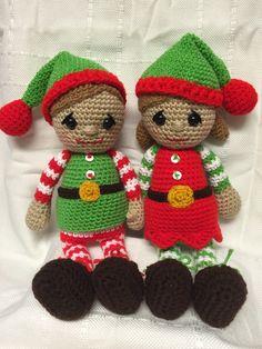 Jingle & Belle, Santa's little helpers. Found on etsy @memawscountrycrafts