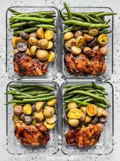 Glazed Chicken Meal Prep Glazed Chicken Meal Prep,Rezepte Take your meat and potatoes meal prep into the century with this simple, yet elegant Glazed Chicken Meal Prep. Eating well has never been easier. Prepped Lunches, Meal Prep Bowls, Meal Prep Containers, Storage Containers, Food Storage, Clean Recipes, Meal Prep Recipes, Meal Prep Dinner Ideas, Food Meal Prep