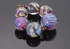 Double Helix Glass Lampwork Beads