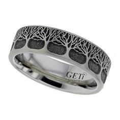 Tree+of+Life+Wedding+Ring+in+Titanium