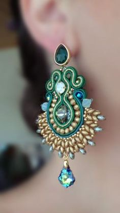 Soutache Earrings Serena Di Mercione Creation by cheryl