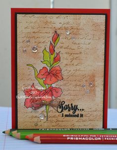 Happy Belated Birthday Card, Handmade Greeting Cards by OutOfTheScrapbookBox on Etsy