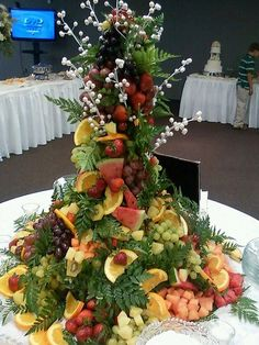 Image result for cascading fruit displays