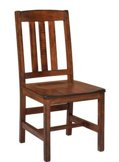 Amish Ancient Mission Side Dining Chair - Quick Ship Gorgeous solid maple wood for your dining room. Supportive back and comfy scooped seat. Available in a variety of finish colors.