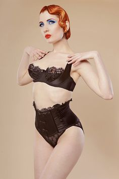 "Love: waist-chincher knickers with the ""kiss me deadly bra"", all by cadolle."