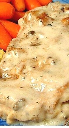 Awesome Baked Pork Chops These chops remain moist and tender, and the sauce is to die for! You probably have all the ingredients in your kitchen to make this! Serve these chops over rice! - Baked Pork Chops with White Wine Mushroom Sauce ❊ Pork Dishes, Chicken Recipes, Easy Pork Chop Recipes, Recipes Using Pork Chops, Pork Recipes For Dinner, Pork Dinner Ideas, Butterfly Pork Chop Recipes, Pork And Rice Recipes, Vegan Recipes
