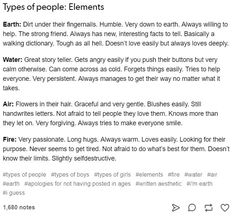 Paul = Mix of Earth and Water; Jan = Earth and low-key Water; Book Writing Tips, Writing Help, Writing Ideas, Le Zodiac, Zodiac Signs, Types Of Aesthetics, Writing Characters, Zodiac Characters, Writing Promts