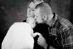 Newborn baby and his parents