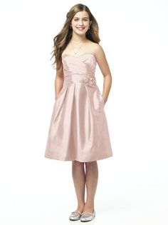 Don't love that it's shiny...but it's pretty cute for a junior bridesmaid