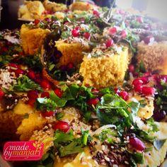 Dhokla! Gluten free spicy lentil cake... #madebymanjari #wholefoods #tasty #gujaraticuisine #yvr #yummy #instafood #instagood #prasadam #snack #food #fresh #foodie #foodism #foodstagram #foodphotography #goveg #glutenfree #healthy #healthyeats #healthyfoodshare #dhokla #color  #cleaneats #comfortfood #chefsofinstagram #vancouver #vegetarian #vegetarianvancouver #nutrition