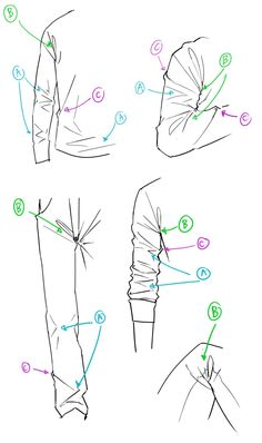 Manga Drawing Techniques 옷 주름 3 - Anonymous said: hello! i've seen you give some art tips and I was wondering if you could give some for drawing folds on clothes (shirts and trousers mostly)? because I try but I can't get it right. Digital Art Tutorial, Drawing Clothes, Drawings, Art Drawings Sketches, Drawing Reference Poses, Art Tips, Anime Drawings Tutorials, Drawing Tips, Art Tutorials