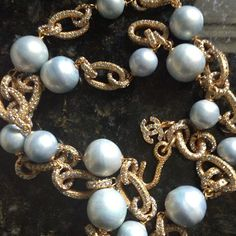 #spectacular #vintage #chanel and #rhinestone #chain #necklace #pearl #paris #couture #mdvii