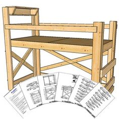 Twin Extra Long Size Loft Bed Plans