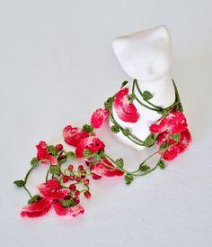 Que bello, perfecto para un vestido de flamenca.    Oya Turco, crochet, encaje