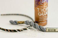 flax & twine: Day 3: Sparkle Headbands - a diy headband tutorial