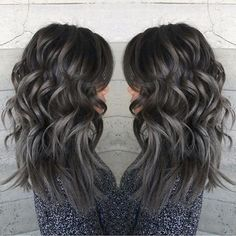 Angled Silver Ombre - 21 Pinterest Looks That Will Convince You to Dye Your Hair Grey - Livingly
