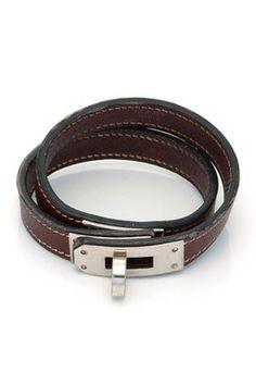 Vintage Hermes Leather Kelly Wraparound Bracelet