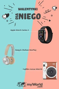 Szukasz inspiracji na prezent walentynkowy dla niego? 💘 Stworzyliśmy dla Ciebie przewodnik po prezentach 👉bit.ly/Valentine_dlaniego_pl Fujifilm Instax Mini 90, Bang And Olufsen, Apple Watch Series, Valentine's Day Diy, Finding Nemo, Gifts