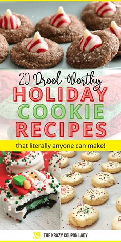 If you're in search of easy Christmas cookies, you're gonna need this list. Christmas cookies can be simple and fast to make without looking basic. The Krazy Coupon Lady brings you the insta-worthy holiday treats that literally anyone can make. Grab a bunch of these holiday recipes for Christmas cookies, call over the kids to help, and get to making holiday memories. #christmasrecipes #holidaycookies
