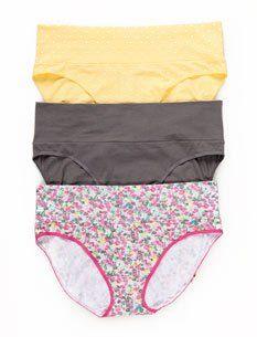 Motherhood Maternity: 3 Pack Maternity Fold Over Panties
