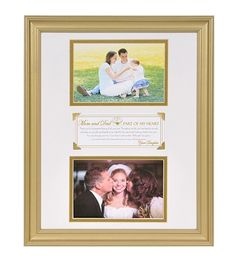 A silver or gold frame from daughter to parents on her wedding day.