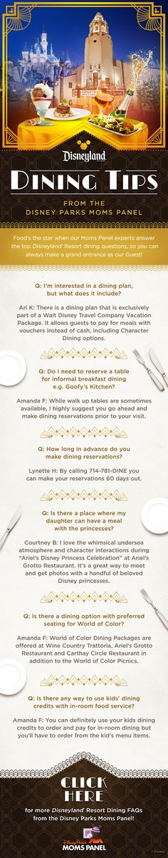 Check out these Disneyland Dining tips from Disney Parks Moms Panel!