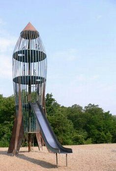 The rocket slide made from metal. Those sunny days would make it hot, add some dry wind for static.....gezzz.   G;)