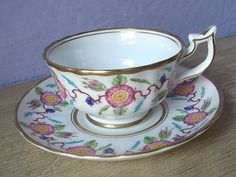 Antique 1940's Royal Chelsea hand painted tea cup by ShoponSherman