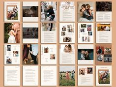 Ad: Family Photography Client Magazine by Signature Edits on Creative Market. - Ad: Family Photography Client Magazine by Signature Edits on Creative Market. Check out this beauti - Photography Brochure, Wedding Photography Pricing, Photography Packaging, Photography Business, Wedding Matches, Magazine Template, Photographing Kids, Family Photographer, Style Guides