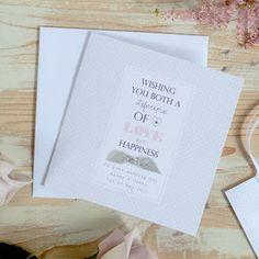 4th Wedding Anniversary Card Handmade Personalised Fourth