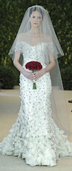 Carolina Herrera Bridal Dress Spring 2014