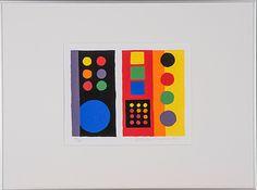 Ernst Mether-Borgström: Pompidou, 1973, 20,5x26,5 cm, edition 125 - Bukowskis Market 2015