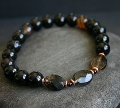 Black+Men's+Bracelet+by+ITMensCollection+on+Etsy,+$35.00