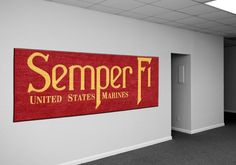 What a great #SemperFi Wall Rug! A great present for any Marine or retired US Marine