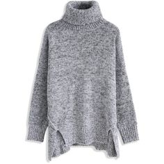 Chicwish Warm My Soul Turtleneck Sweater in Grey (1189590 BYR) ❤ liked on  Polyvore. Roll Neck ... 6e12e181c