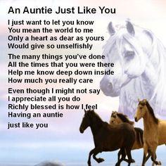 Personalised Coaster - Auntie Poem + Free Gift Box  -  Various designs