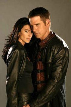 Claudia Black & Ben Browder - Farscape.<3  So happy when they were reunited again on Stargate SG-1.