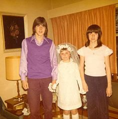 Darcy with sisters Leigh and Laine (Leigh's First Holy Communion)