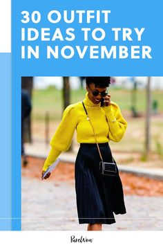 Here are 30 autumnal outfits ideas that will spice up your look better than a pumpkin latte. #fall #outfit #ideas Kimora Lee Simmons, 30 Outfits, Autumnal, Color Trends, Spice Things Up, Dress To Impress, 30th, What To Wear, High Waisted Skirt