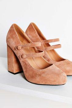 Agnes Suede Double Strap Heel