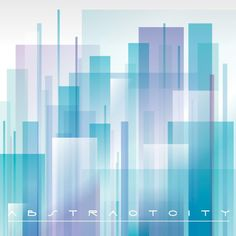 Abstract City Vector Graphic — buildings, stylized, modern