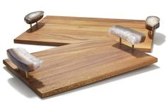 Wood and natural stone for modern rustic chic/ Bosque Tray from rablabs