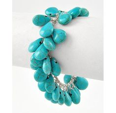 Beautiful REAL Turquoise Cluster Bracelet $14.99
