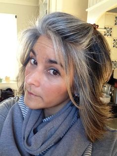 growing out grey hair with highlights - Google Search