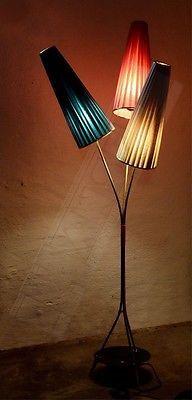50er 60er Jahre Stehlampe Tutenlampe Rockabilly Kult Ddr